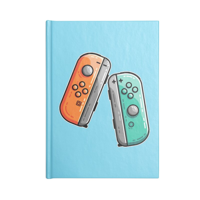 Gaming Controllers Accessories Lined Journal Notebook by Flaming Imp's Artist Shop