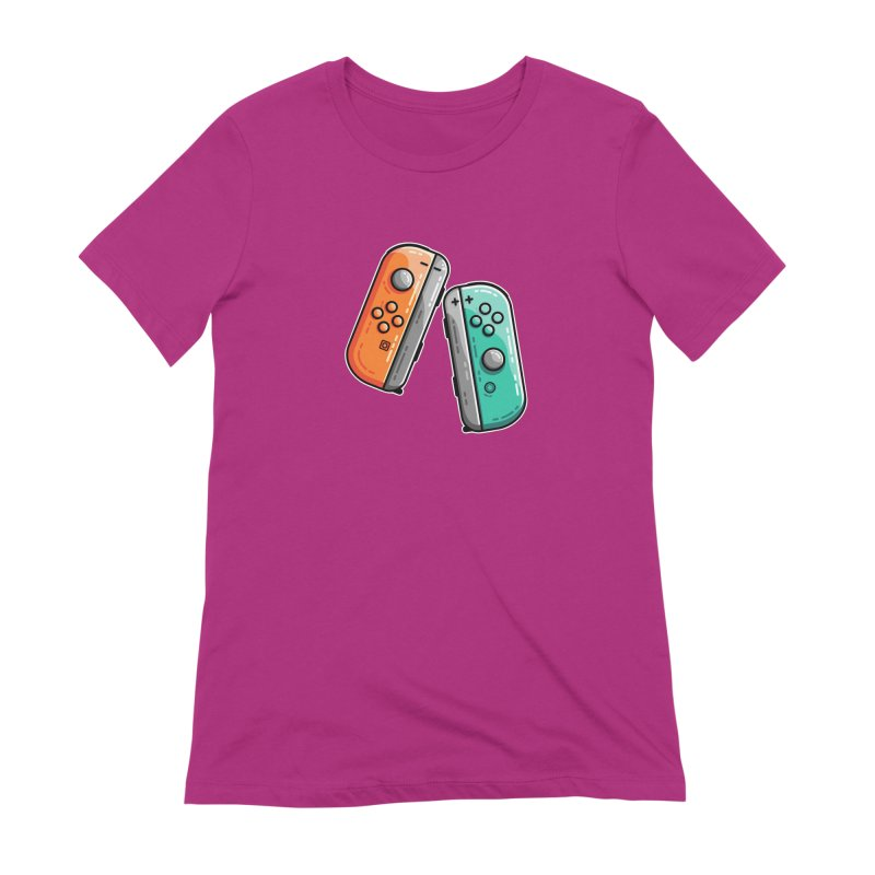 Gaming Controllers Women's T-Shirt by Flaming Imp's Artist Shop