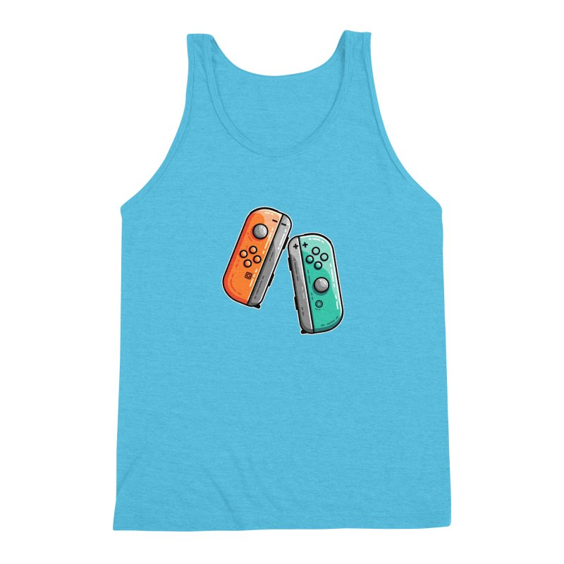 Gaming Controllers Men's Triblend Tank by Flaming Imp's Artist Shop