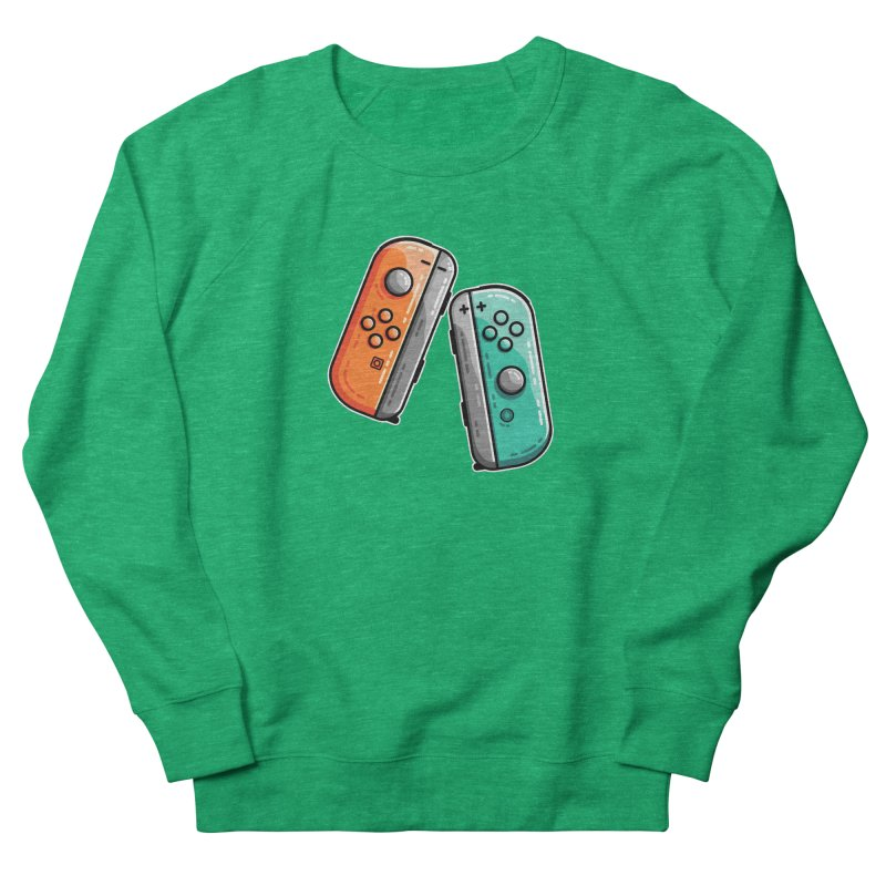 Gaming Controllers Fitted Sweatshirt by Flaming Imp's Artist Shop