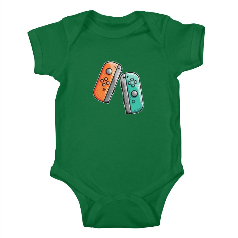 Gaming Controllers Kids Baby Bodysuit by Flaming Imp's Artist Shop