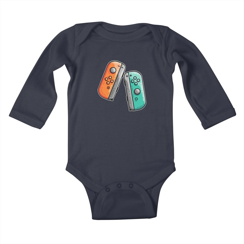 Gaming Controllers Kids Baby Longsleeve Bodysuit by Flaming Imp's Artist Shop