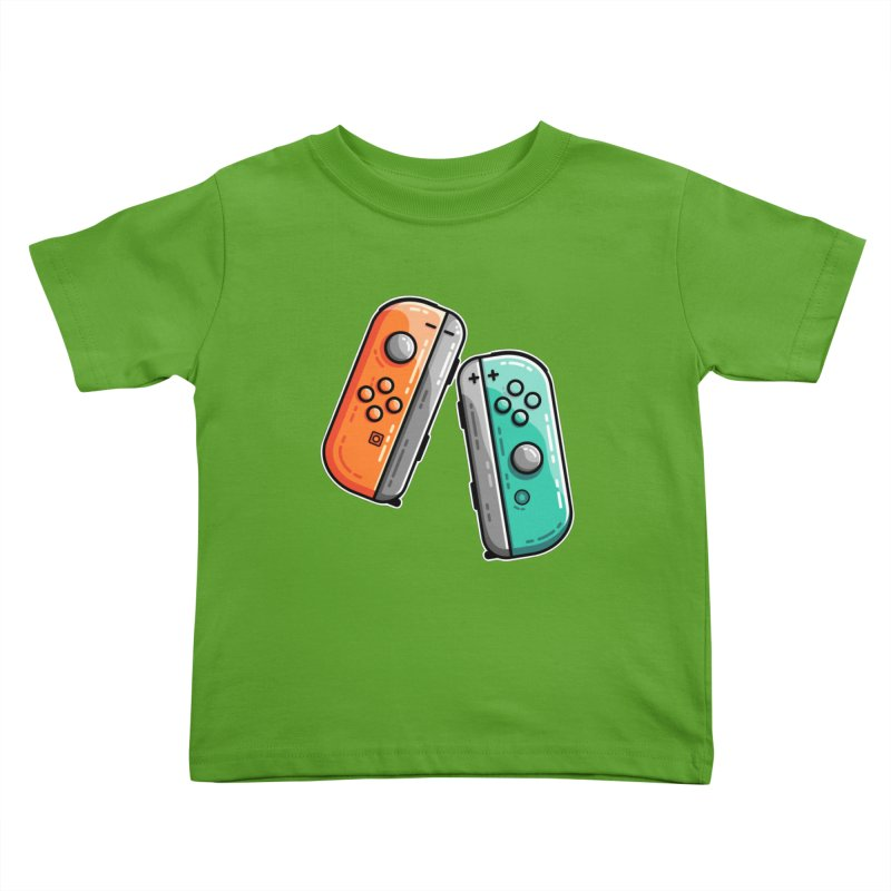 Gaming Controllers Kids Toddler T-Shirt by Flaming Imp's Artist Shop