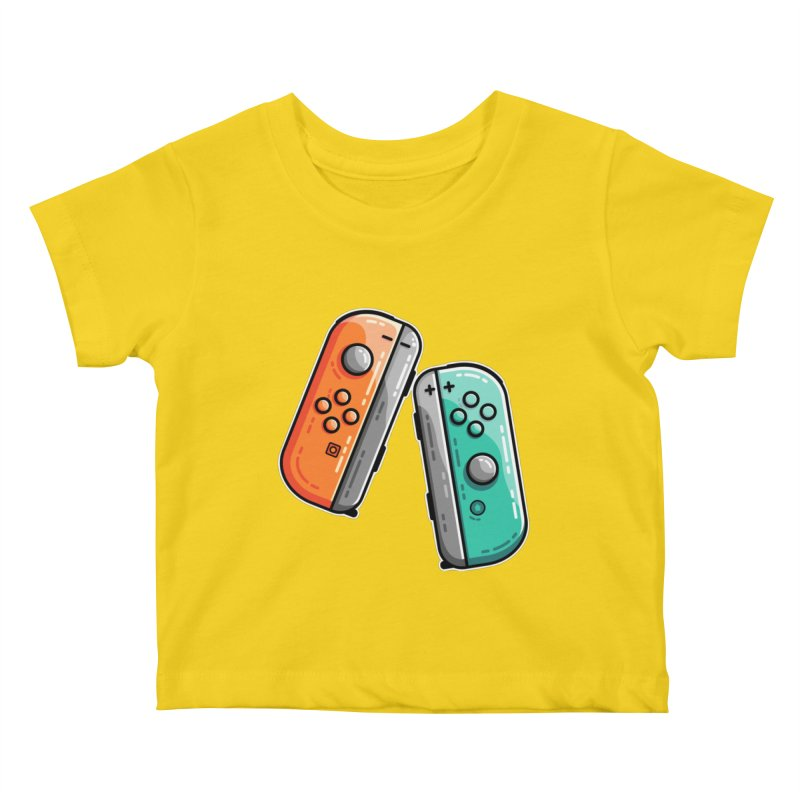 Gaming Controllers Kids Baby T-Shirt by Flaming Imp's Artist Shop