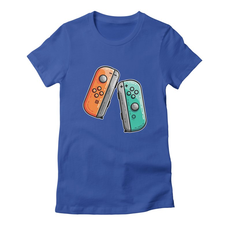 Gaming Controllers Fitted T-Shirt by Flaming Imp's Artist Shop