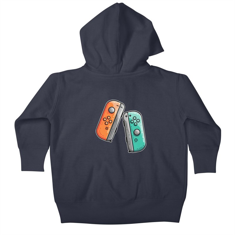 Gaming Controllers Kids Baby Zip-Up Hoody by Flaming Imp's Artist Shop