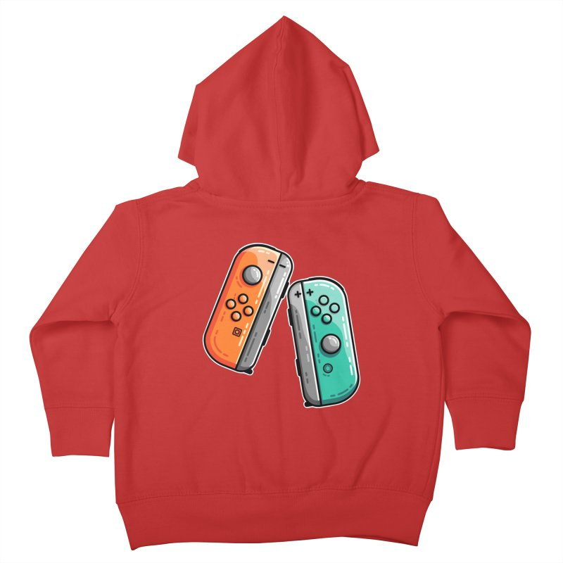Gaming Controllers Kids Toddler Zip-Up Hoody by Flaming Imp's Artist Shop