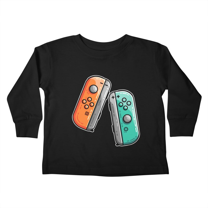 Gaming Controllers Kids Toddler Longsleeve T-Shirt by Flaming Imp's Artist Shop