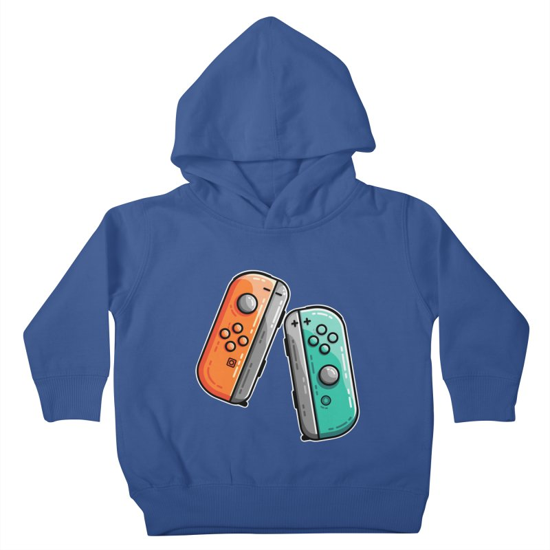 Gaming Controllers Kids Toddler Pullover Hoody by Flaming Imp's Artist Shop