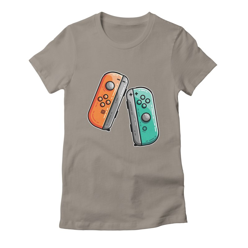 Gaming Controllers Women's Fitted T-Shirt by Flaming Imp's Artist Shop