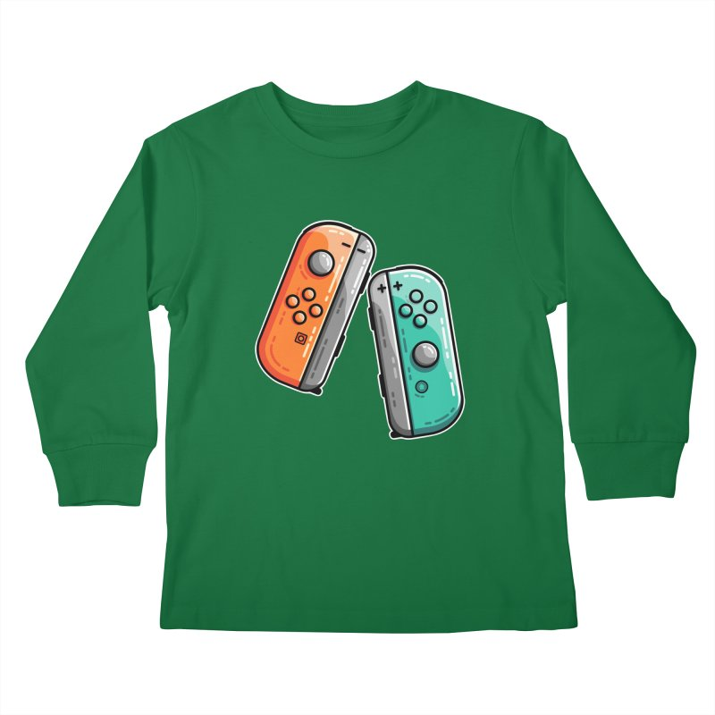 Gaming Controllers Kids Longsleeve T-Shirt by Flaming Imp's Artist Shop