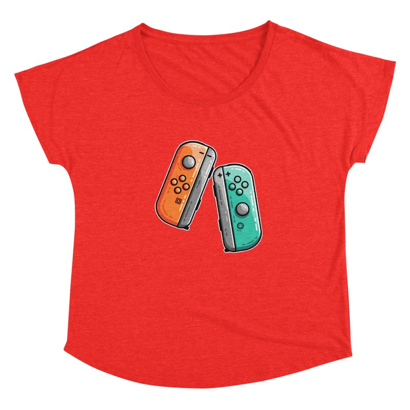 Gaming Controllers Fitted Scoop Neck by Flaming Imp's Artist Shop