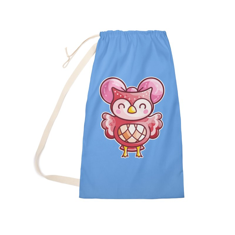 Cute Celeste Owl Accessories Bag by Flaming Imp's Artist Shop