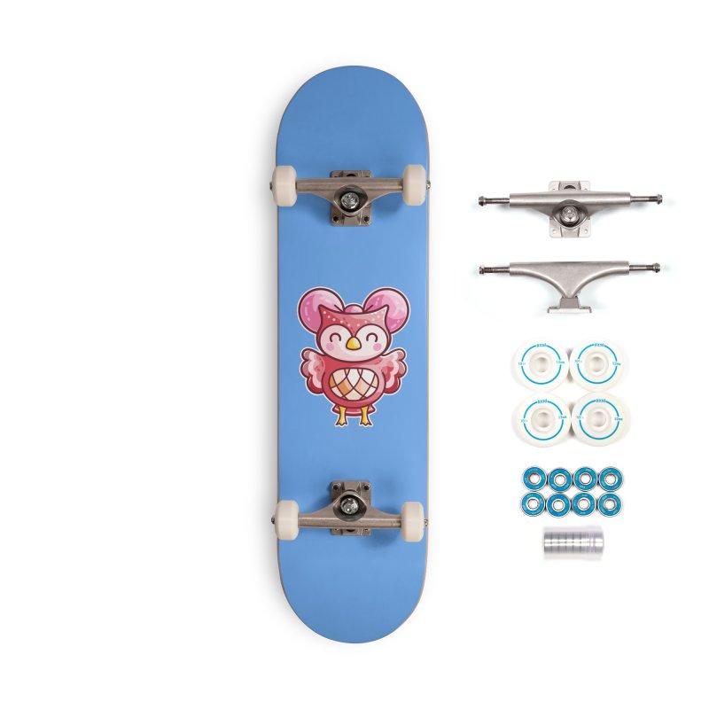 Cute Celeste Owl Accessories Complete - Basic Skateboard by Flaming Imp's Artist Shop