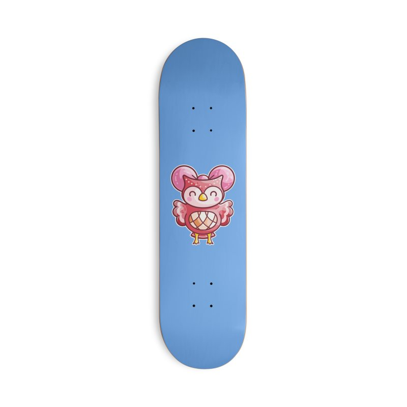 Cute Celeste Owl Accessories Skateboard by Flaming Imp's Artist Shop