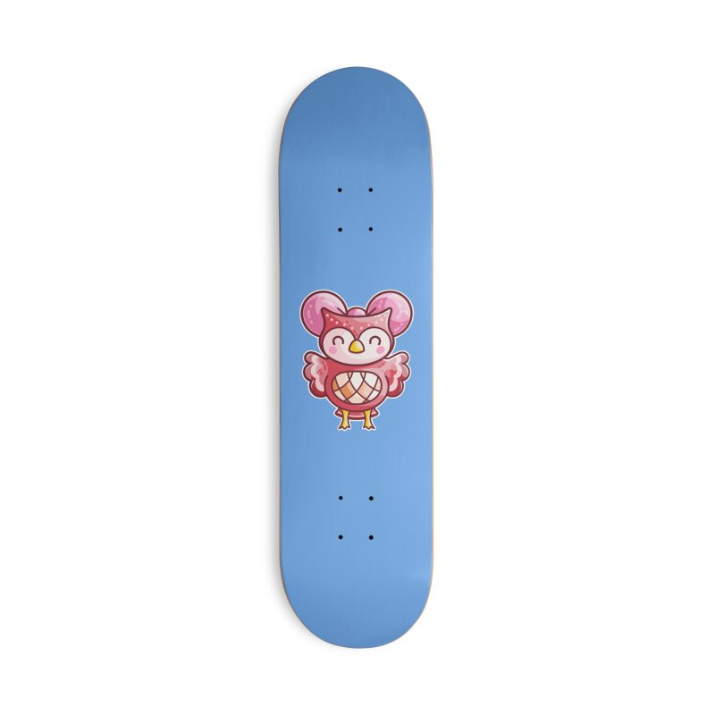 Cute Celeste Owl Masks + Accessories Skateboard by Flaming Imp's Artist Shop
