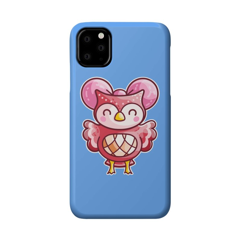 Cute Celeste Owl Accessories Phone Case by Flaming Imp's Artist Shop