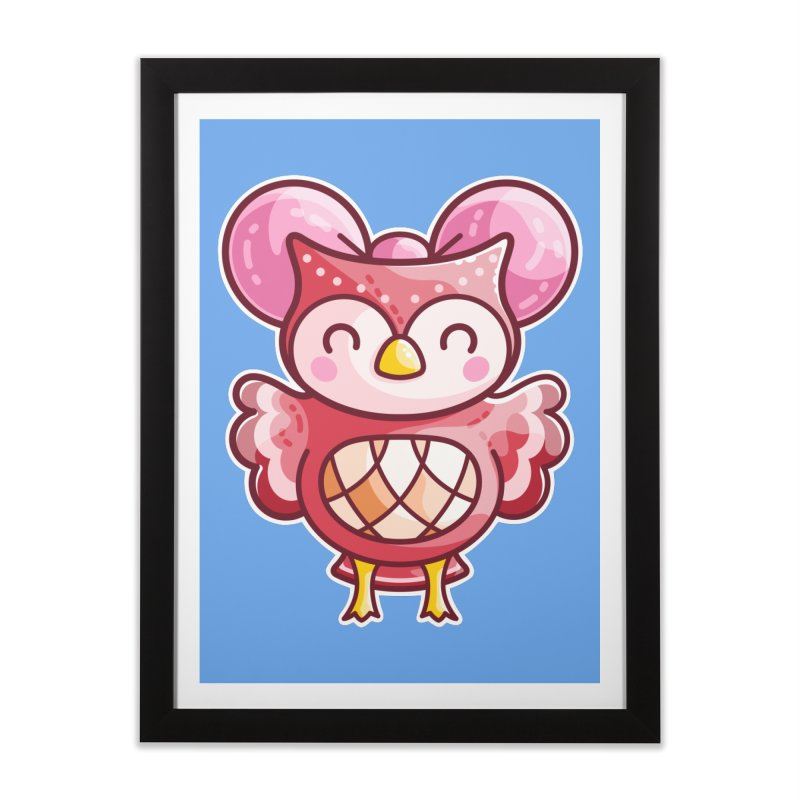 Cute Celeste Owl Home Framed Fine Art Print by Flaming Imp's Artist Shop