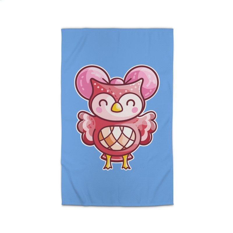 Cute Celeste Owl Home Rug by Flaming Imp's Artist Shop