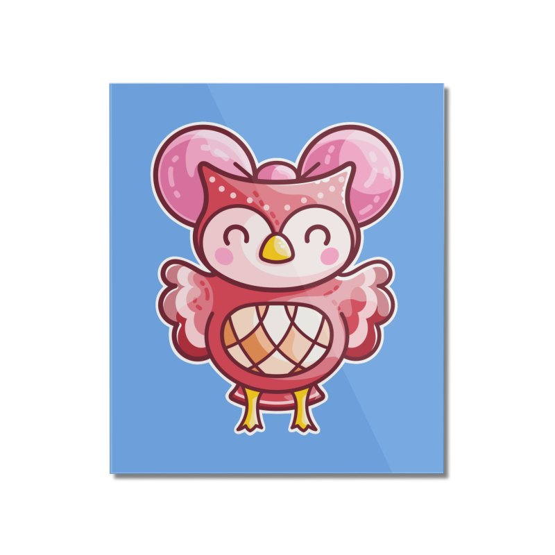 Cute Celeste Owl Home Mounted Acrylic Print by Flaming Imp's Artist Shop