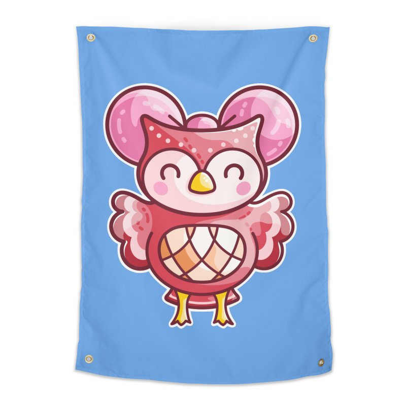 Cute Celeste Owl Home Tapestry by Flaming Imp's Artist Shop