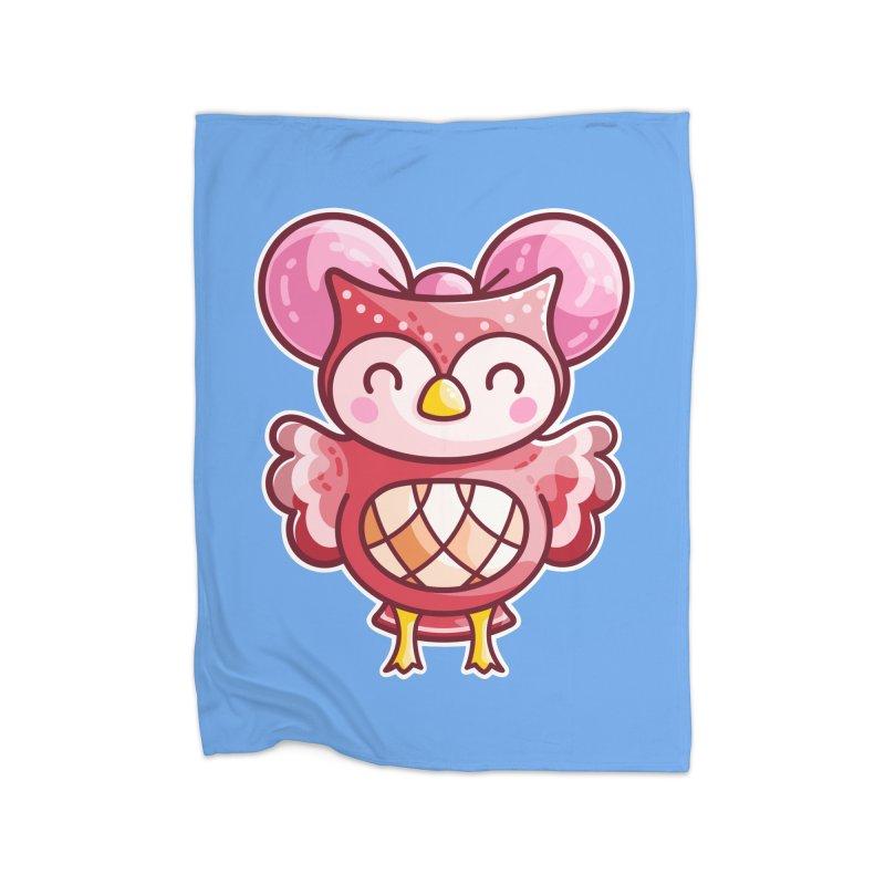 Cute Celeste Owl Home Blanket by Flaming Imp's Artist Shop