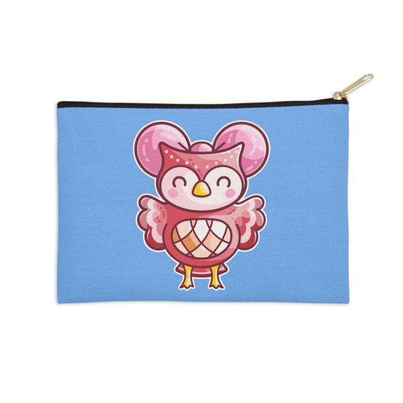 Cute Celeste Owl Accessories Zip Pouch by Flaming Imp's Artist Shop