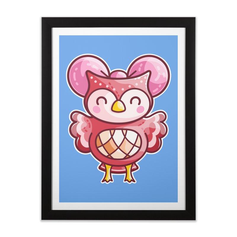 Cute Celeste Owl Home Framed Fine Art Print by Flaming Imp's Artist Shop