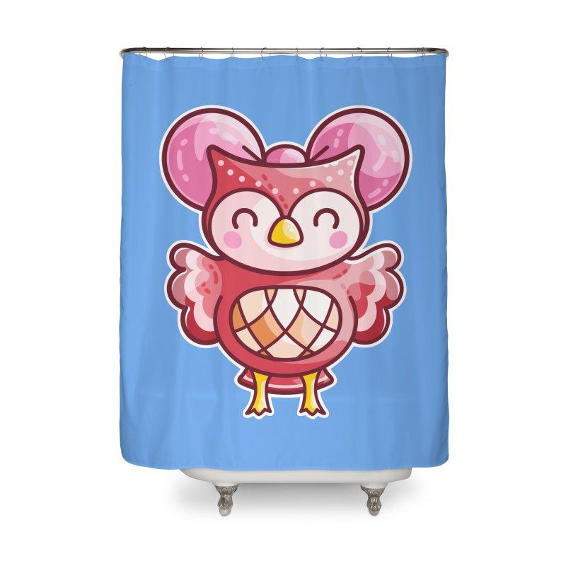 Cute Celeste Owl Home Shower Curtain by Flaming Imp's Artist Shop