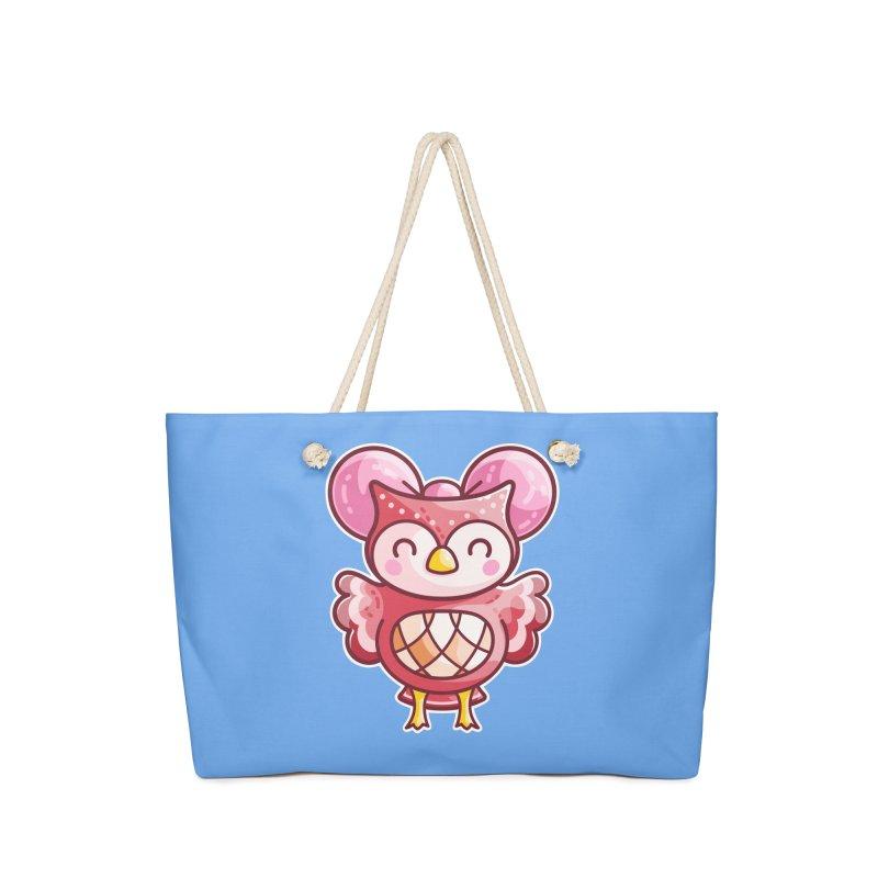 Cute Celeste Owl Accessories Bag by Flaming Imp's Artist Shop