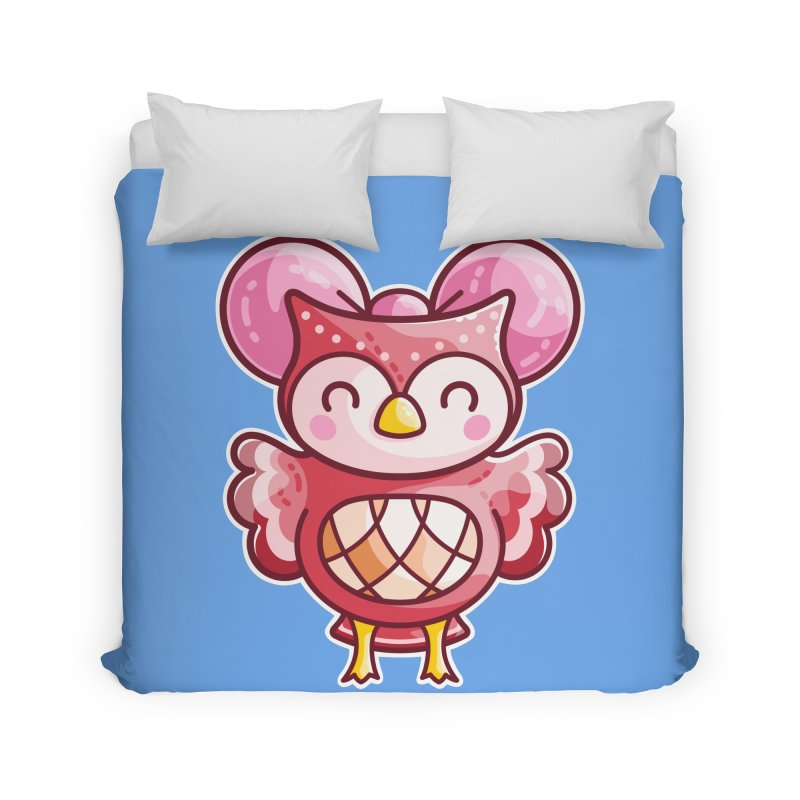 Cute Celeste Owl Home Duvet by Flaming Imp's Artist Shop