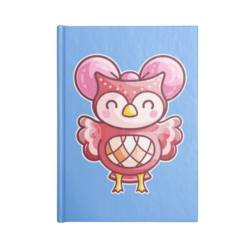 Cute Celeste Owl Accessories Lined Journal Notebook by Flaming Imp's Artist Shop