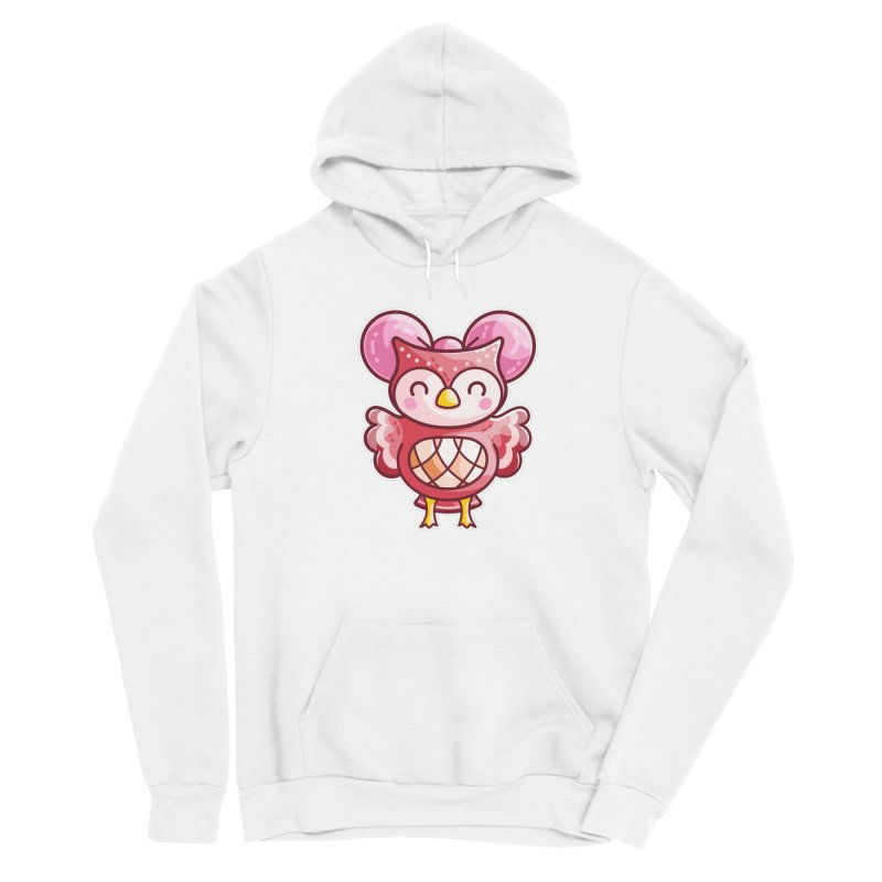 Cute Celeste Owl Men's Sponge Fleece Pullover Hoody by Flaming Imp's Artist Shop