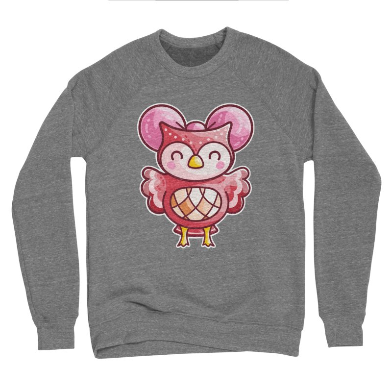 Cute Celeste Owl Men's Sponge Fleece Sweatshirt by Flaming Imp's Artist Shop