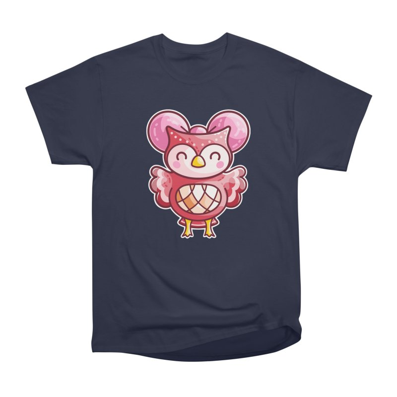 Cute Celeste Owl Men's Heavyweight T-Shirt by Flaming Imp's Artist Shop