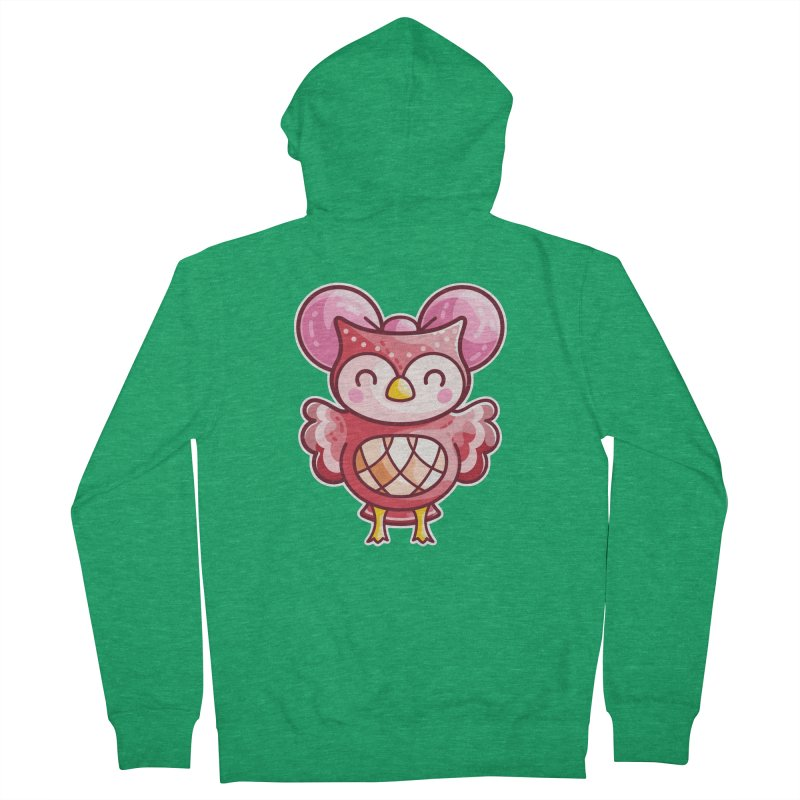 Cute Celeste Owl Men's Zip-Up Hoody by Flaming Imp's Artist Shop