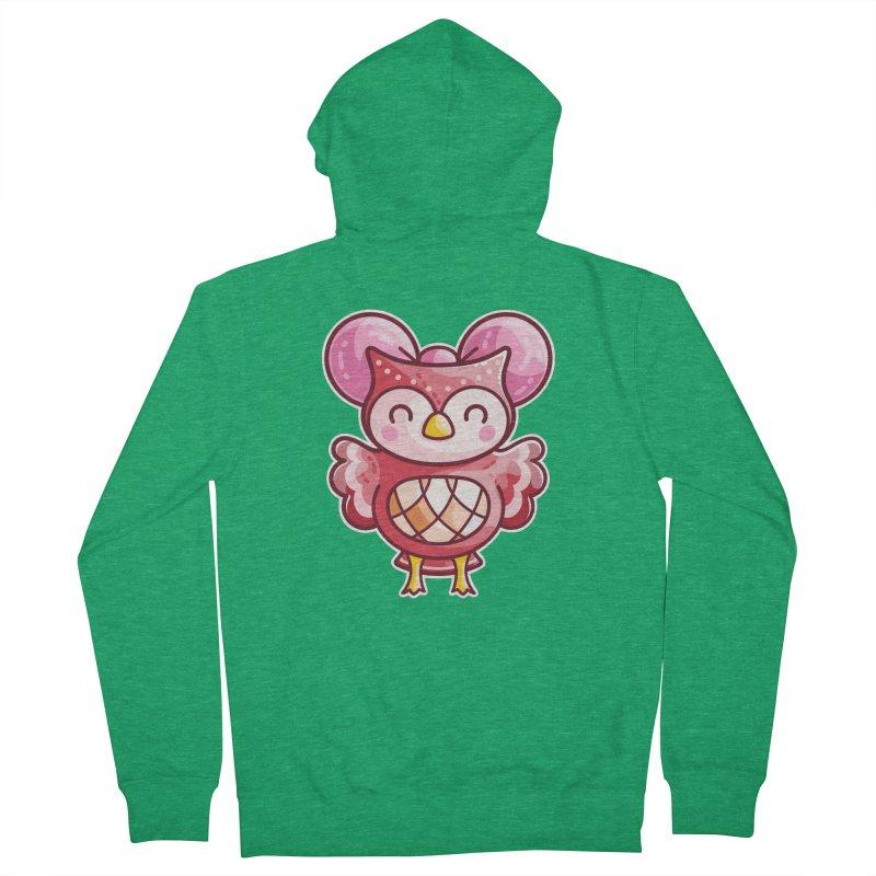 Cute Celeste Owl Unisex Zip-Up Hoody by Flaming Imp's Artist Shop