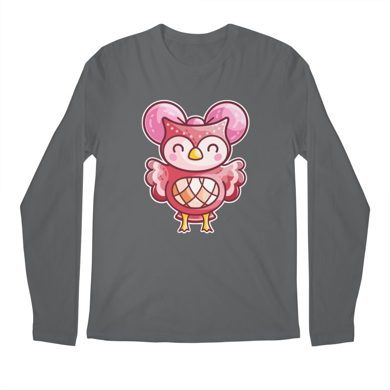 Cute Celeste Owl Men's Longsleeve T-Shirt by Flaming Imp's Artist Shop