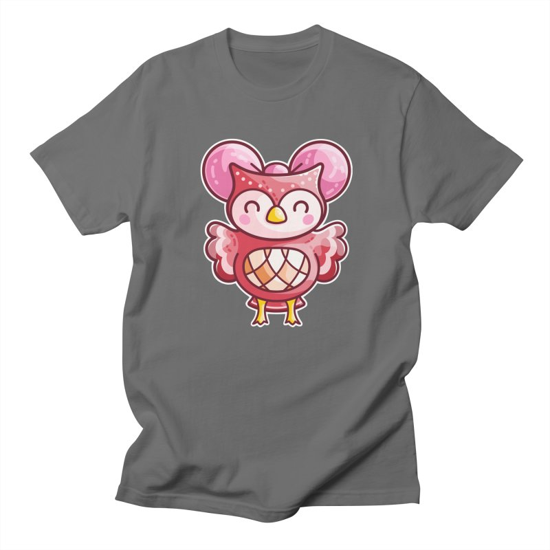 Cute Celeste Owl Men's T-Shirt by Flaming Imp's Artist Shop