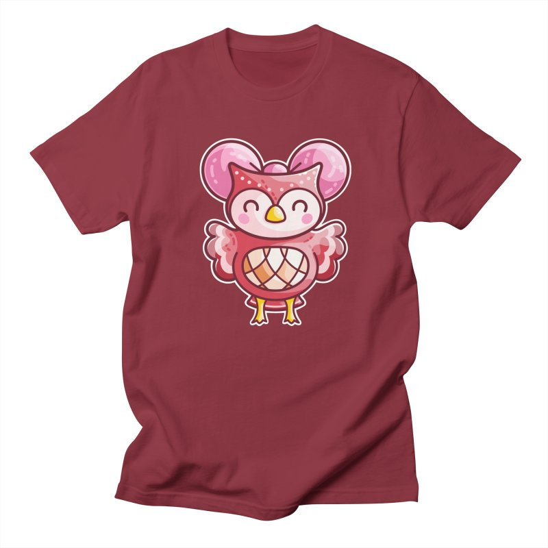 Cute Celeste Owl Men's Regular T-Shirt by Flaming Imp's Artist Shop