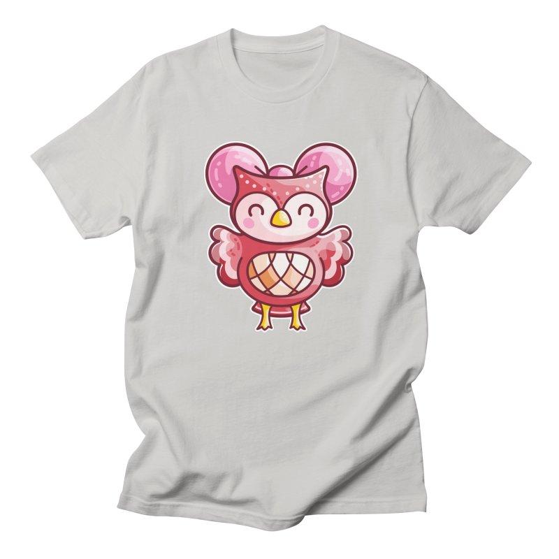 Cute Celeste Owl Men's T-Shirt by Flaming Imp's Artist Shop