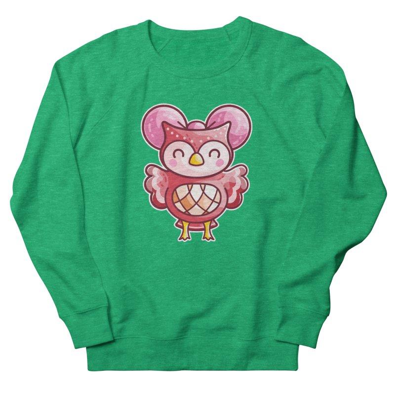 Cute Celeste Owl Fitted Sweatshirt by Flaming Imp's Artist Shop