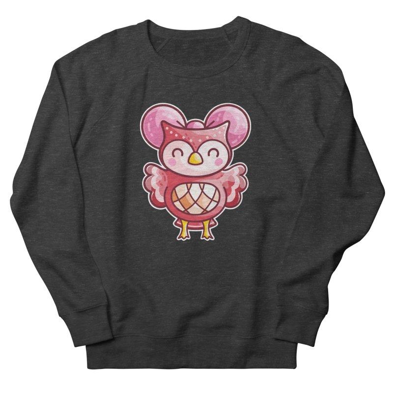 Cute Celeste Owl Women's French Terry Sweatshirt by Flaming Imp's Artist Shop