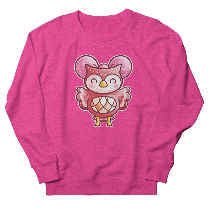 Cute Celeste Owl Men's French Terry Sweatshirt by Flaming Imp's Artist Shop