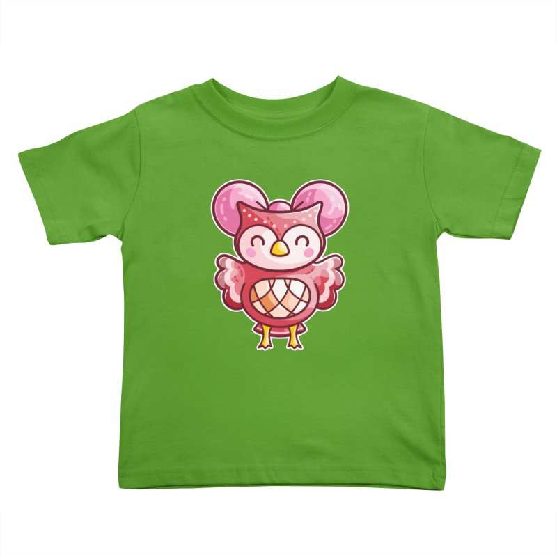 Cute Celeste Owl Kids Toddler T-Shirt by Flaming Imp's Artist Shop