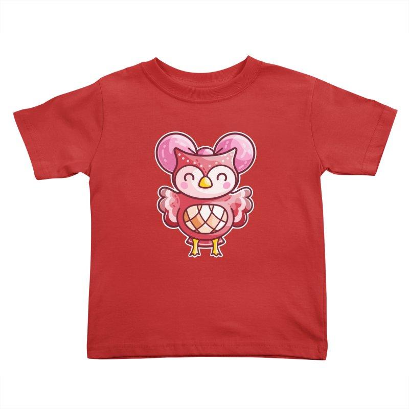 Cute Celeste Owl Kids Toddler T-Shirt by Flaming Imp's Artist Shop