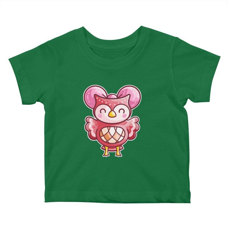 Cute Celeste Owl Kids Baby T-Shirt by Flaming Imp's Artist Shop