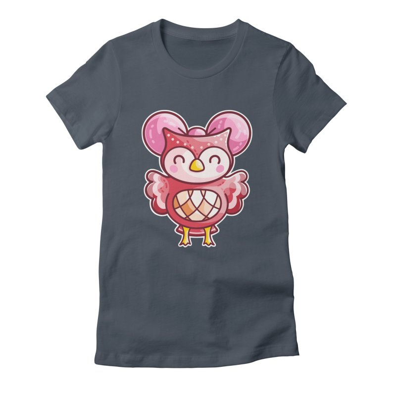 Cute Celeste Owl Fitted T-Shirt by Flaming Imp's Artist Shop