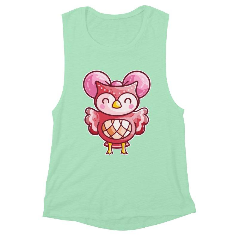 Cute Celeste Owl Women's Tank by Flaming Imp's Artist Shop