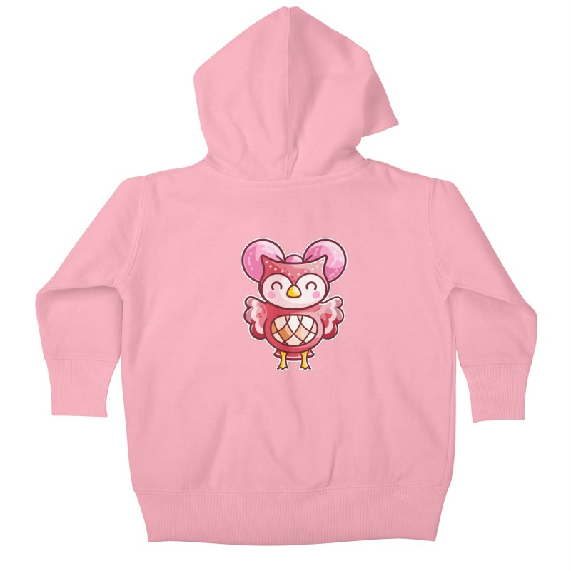 Cute Celeste Owl Kids Baby Zip-Up Hoody by Flaming Imp's Artist Shop